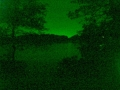 secret swimming hole, night vision view